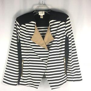 Chico's size 1 black and white stripe jacket